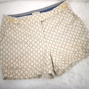 Anthropologie Meadow Rue 8 Shorts Cream And Tan